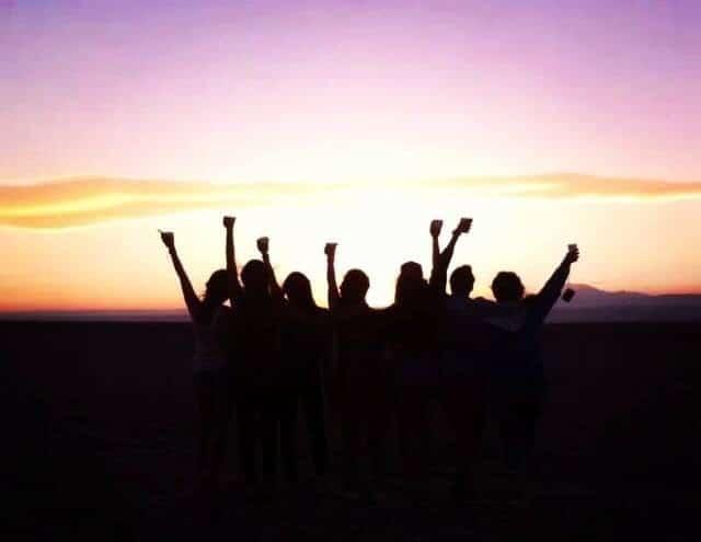Atardecer Salar de Atacama. Own Picture.
