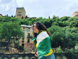 Bandera andaluza en Granada