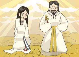 Caricatuta de Izanami e Izanagi