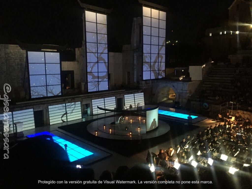 Teatro romano plovdiv noche