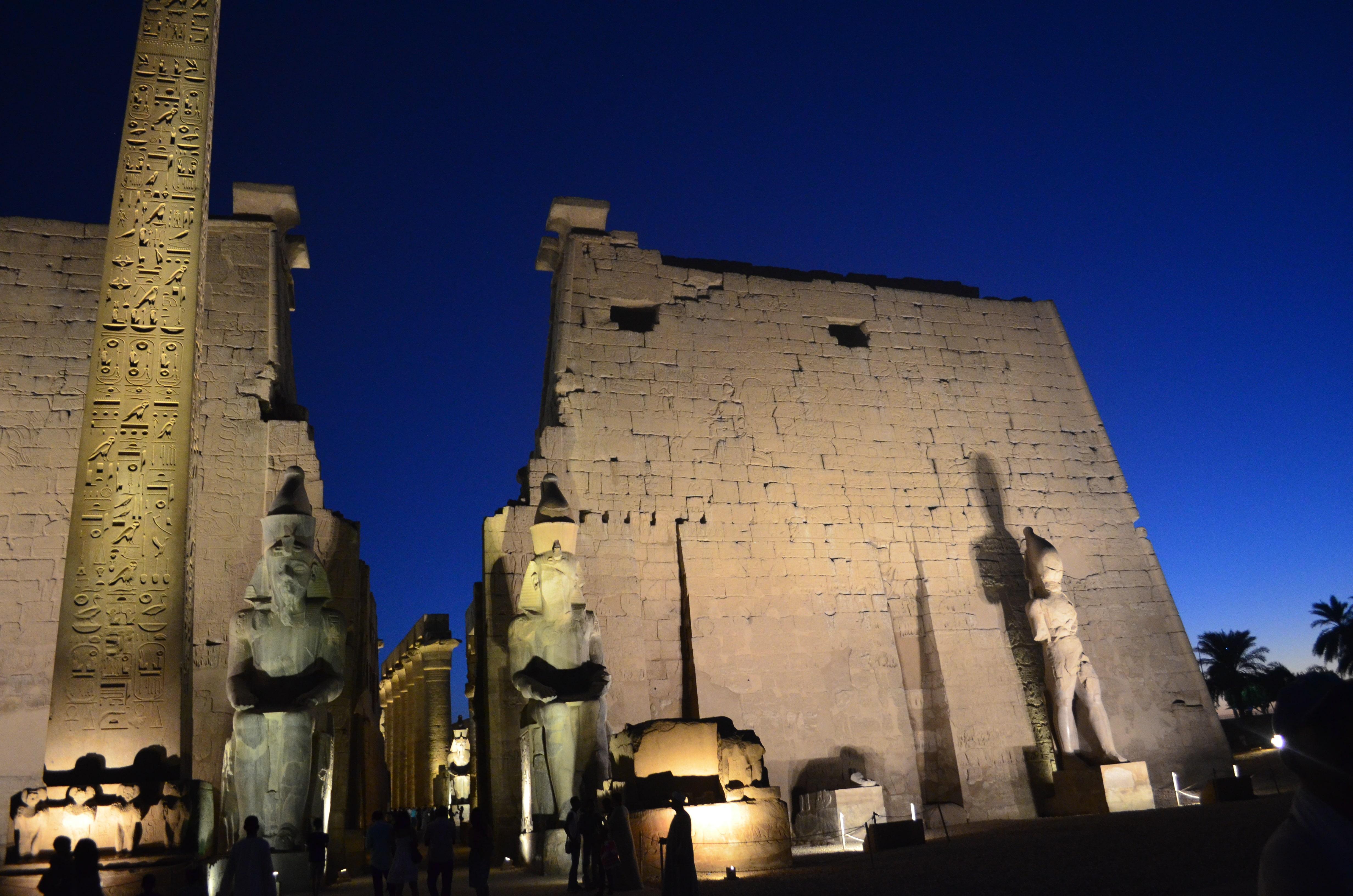 Vista del Templo de Luxor en Egipto