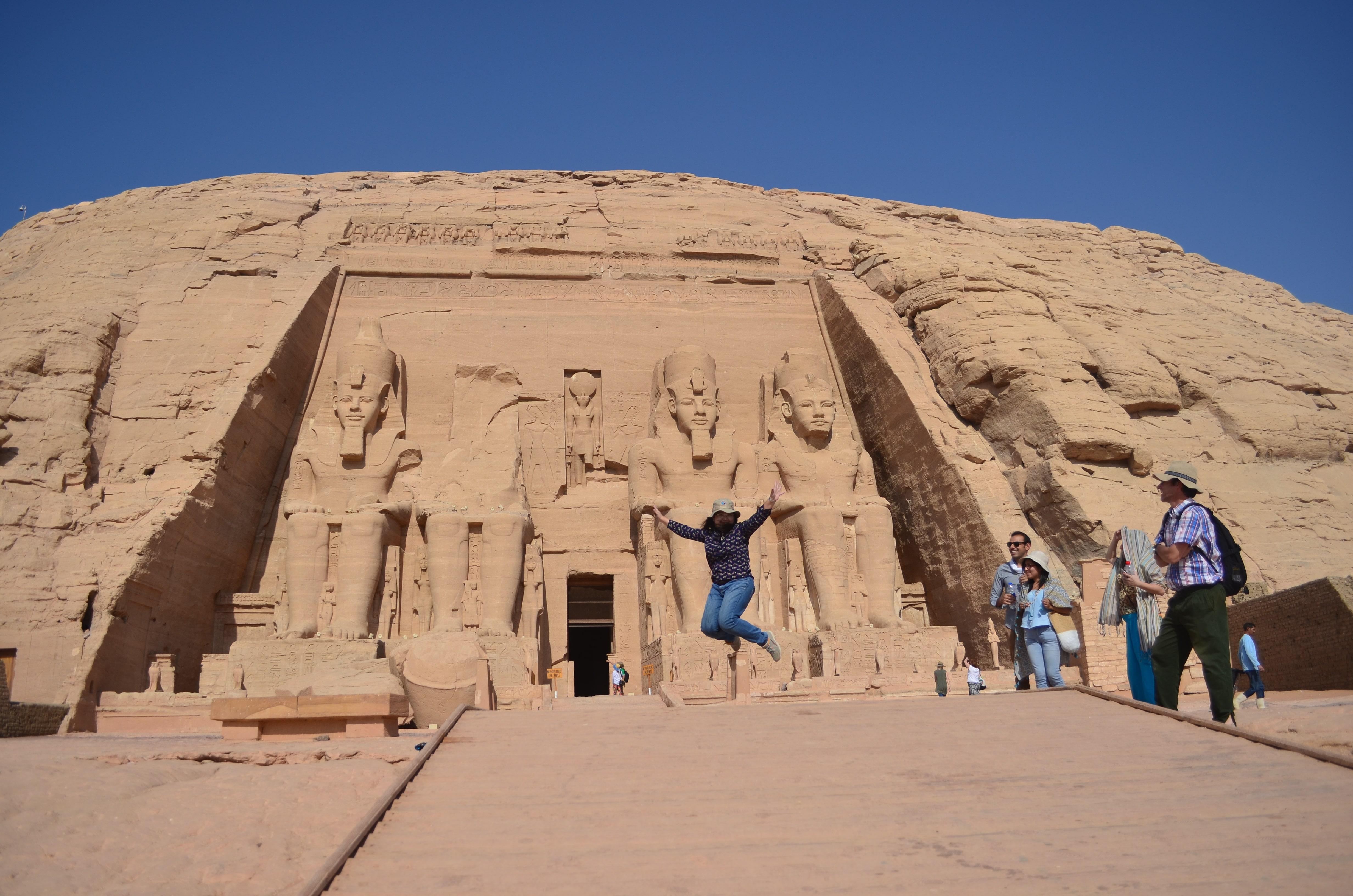 Vista panorámica del Templo de Abu Simbel, al sur de Egipto