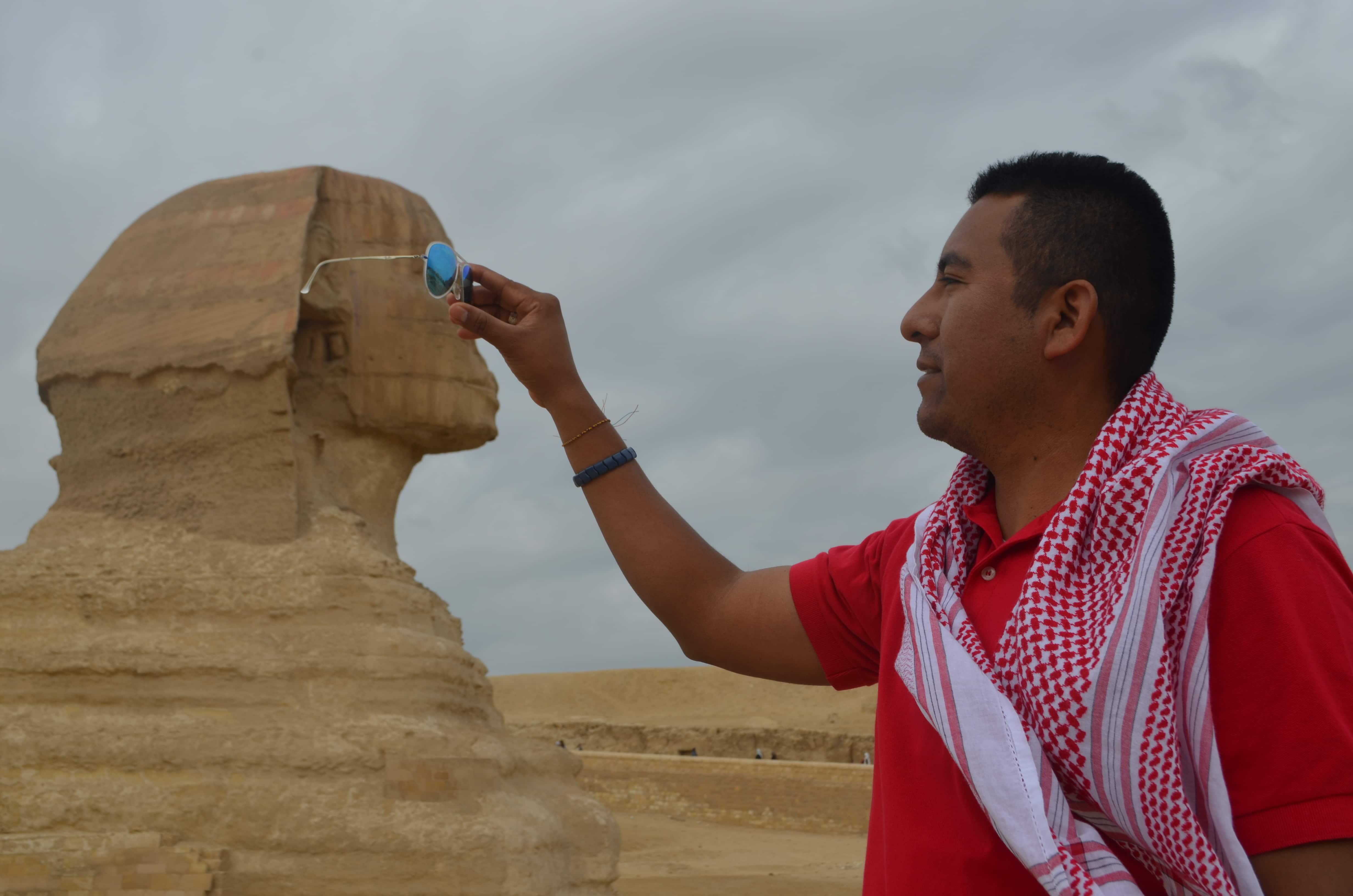 La esfinge en la Pirámide de Guiza