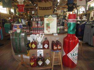tienda de souvenirs en la fábrica de tabasco cerca de Baton Rouge