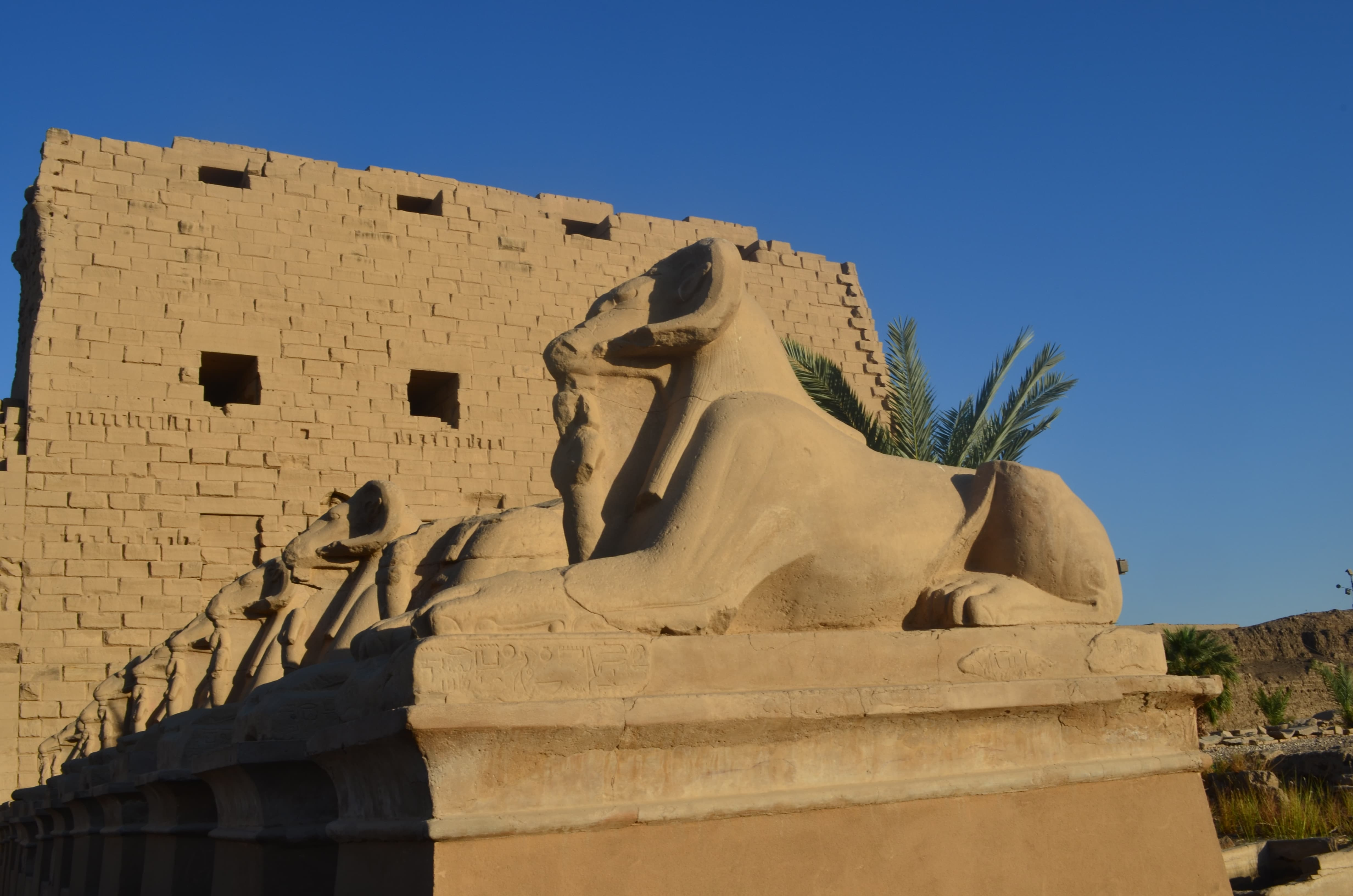 Esfinges en los Templos de Karnak