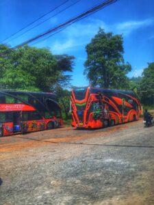 Autobuses rumbo a los muelles