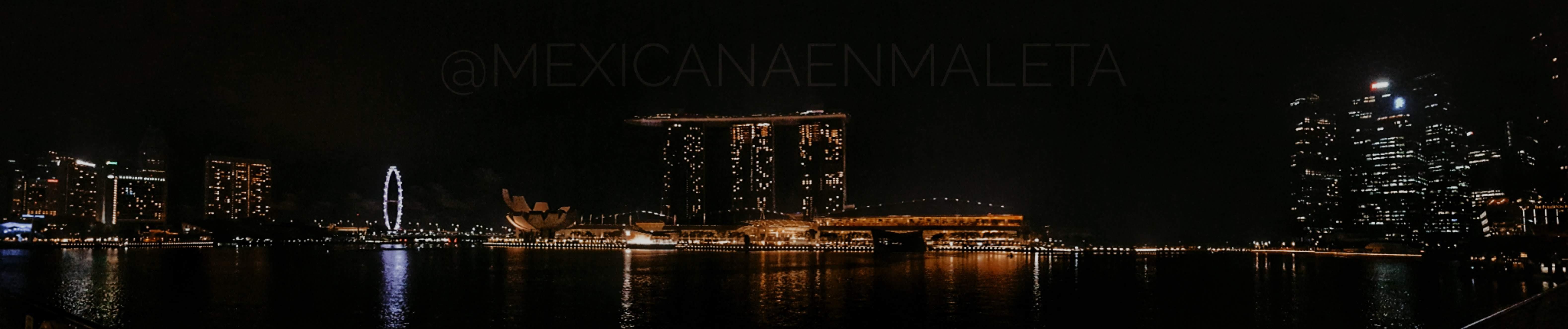 Panorámica de Marina Bay Sands, Singapur.