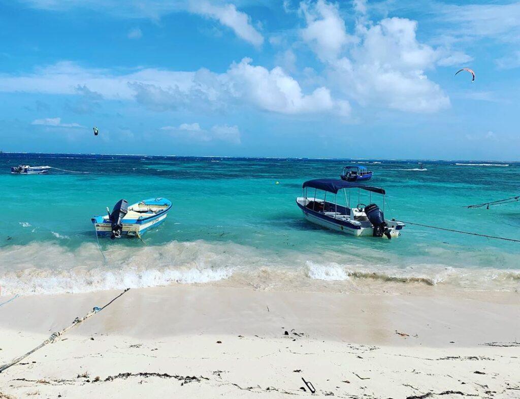 Playa de Spratt Bight en San Andrés Islas