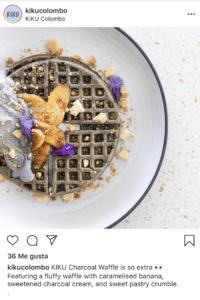 Charcoal waffle en Kiku Colombo