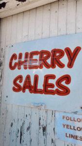 Señal para comprar cerezas