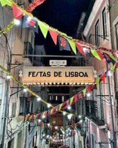 Cartel de las fiestas de Lisboa