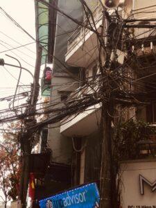 Cableado de las calles de Hanoi