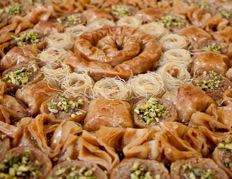 Grecia tieen una gran tradición de dulces de origen turco entre los que destaca el baklavas